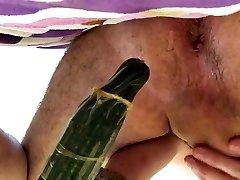 deep anal cucumber extreme fake penis insertion faggot