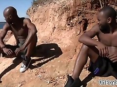 Black men ravage in nature