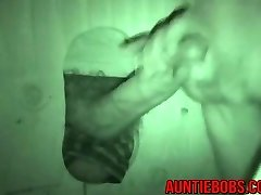 Horny guy hits aunt-in-law bobs gloryhole