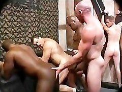 Black Milky Bareback Rough Group Fuck