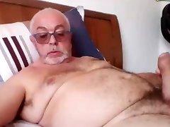granddad strok on webcam