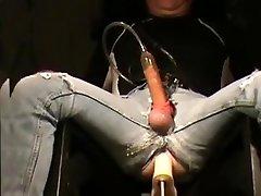 machine boned thru 501's milked to jism