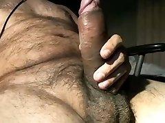 Red-hot horny phat uncut dick latino bear