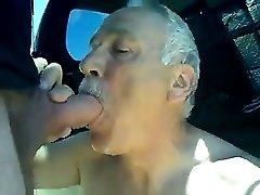 Dad fellate man sausage