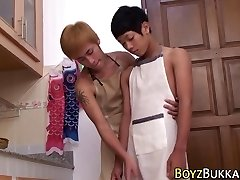 Asian skinny twinks pummel