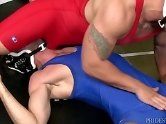 High Performance Studs Fucking Lascivious Wrestlers