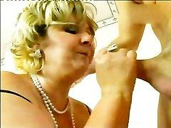 Bi-atch Mature Tucking The Rod