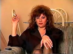 Old-school Dark-haired Smoking Solo