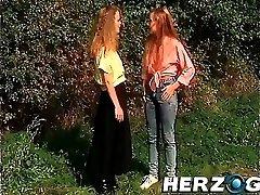 Nasty Bavarian retro girls enjoying a good fuck