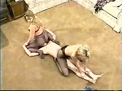 Classic mixed wrestling and queening