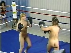 Antique Topless Boxing Struggle