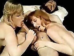 Double blowjob blonde amateur mega-slut threesome