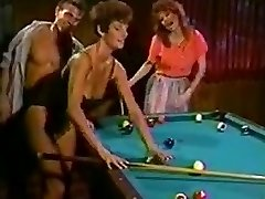 Sharon Mitchell and pal boned on the pool table