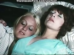 Two lesbians Cathy Stewart, Diane Dubois fondle each other and fuck twats with toys