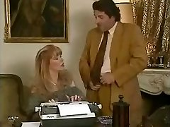Sweetheart office secretary Babette gets fucked by her bosses and her friend