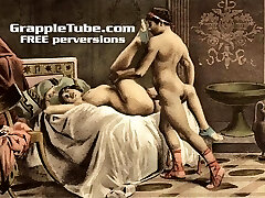 Vintage retro classical hardcore humping and oral hardcore sex perversions