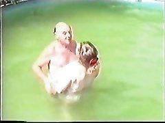 Older couple having Sex in The Pool Part 1 Wear Tweed