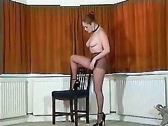 Sexy British buxomy tights teaser