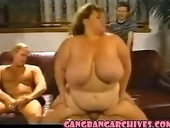 Gangbang Archive Vintage BBW COUGAR bi-atch gangbanging party