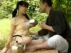 JAPANESE YOUNG COUPLE PUMMELING OUTSIDE