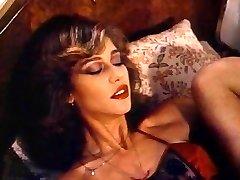 Retro Classic - Chick in Satin Underwear Pleasuring Herself