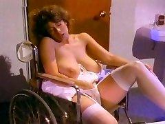 Retro Classical - White Lacy Thong Masturbation