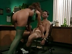 retro big-titted cougar anal in office