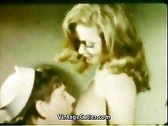 Girlfriend's Deepthroat Hatch Cumshot (1960s Vintage)