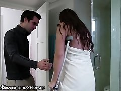 SweetSinner Sonnie Helps Mummy out of Shower