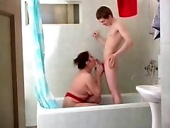 Mom Olga in shower