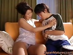 Horny asian mature babes sucking part2