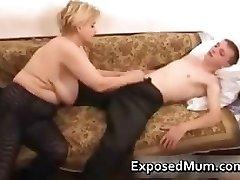 Elegant mom in negro tights worships part3