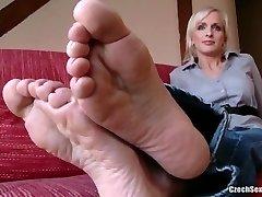 Czech Super-sexy Feet - Lada Super Soles and Ticklish Feet