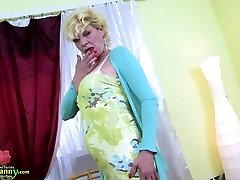 OldNannY Warm Mature Frolicking Alone With Herself