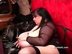 German Punk BBW shows her outstanding Boobs