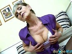 EuropeMaturE Stellar Granny Ivana Solo Fingering
