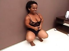 Black Brazilian Mature Midget Fucked Great