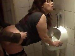 mega-slut fuckin'  kathy in my local pub wc