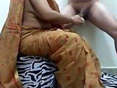 aunty shaving cock getting prepared boy for boink. ganu