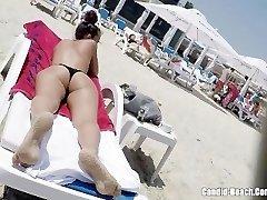 Panty Donk Bikini horny Milfs Beach Voyeur HD