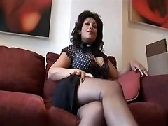Mature huge jugs Danica talks dirty as she strips and teases