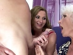 Mom and grandma fucked and urinated on by son