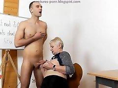 Grandmother handjob