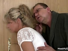 She opens up her legs for his older parents