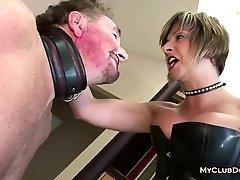 Mature Femdom Loves Slapping Her Victim
