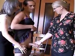 Mrs Enjoying and Ms Simone, tease and humilate this sissy fellow