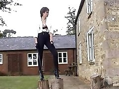 Mistress railing her slave.