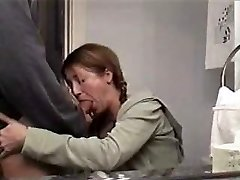 gorgeous mom sucking large cock and swallowing