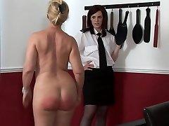 spanking mature doll