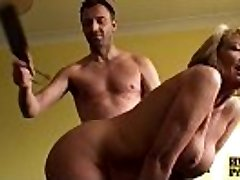 Bigtitted mature slave lady spanked and pulverized